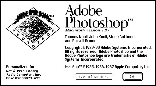 Original Adobe Photoshop Licence Graphic While Loading Software