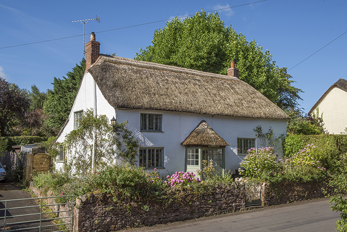 Edited Image of Country Cottage for Estate Agent's Visual Purposes