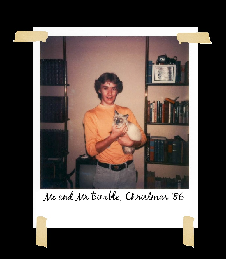 1980's Polaroid Family Photograph