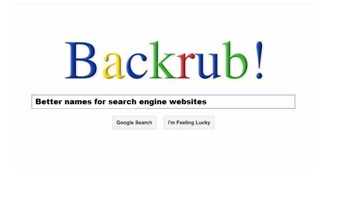 Backrub, original Google search engine name from 1997