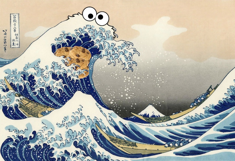 Digitally image edited version of 'The Great Wave off Kanagawa'