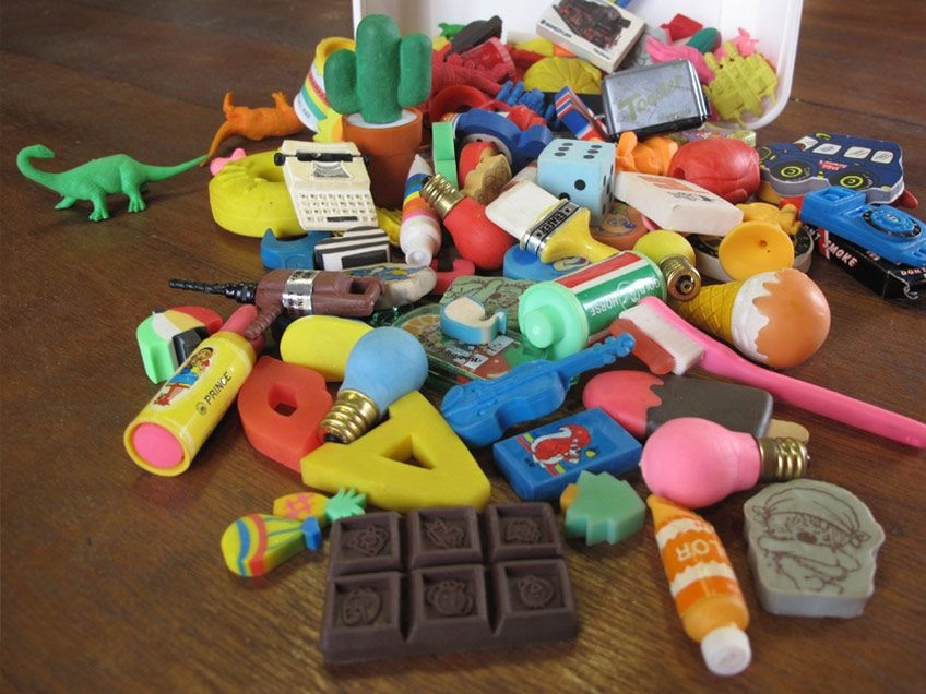 Novelty erasers from image editing experts' schooldays represented one of the few means by which to correct an image.