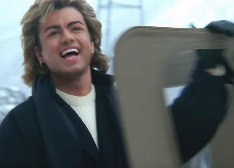 George Michael undergoes digital image enhancing, as part of visual remastering of 'Last Christmas' music video.