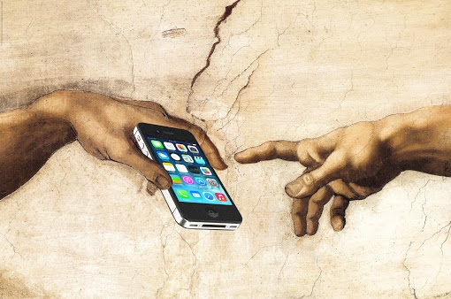 Creation of Adam with smartphone