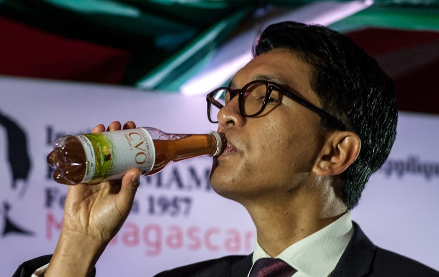 Madagascan president championing 'miracle' cure for Coronavirus. Herbal drink with no clinically-known means of curing disease.