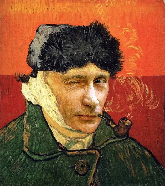 Vladimir receives Van Gogh treatment, as politicians reimagined by image editing Photoshop artists.