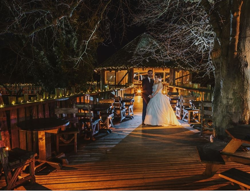 High up in the treetops is certainly one example of what qualifies as amongst the Top 10 Unique UK Wedding Venues, in our book.